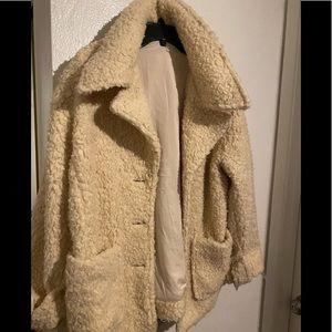 Free People Cream Coat